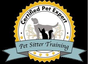 Dog walker and pet sitter certificate
